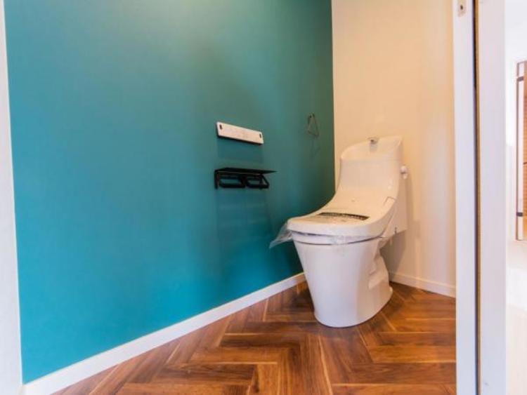 【トイレ】洗浄便座付 タオル掛けも便利