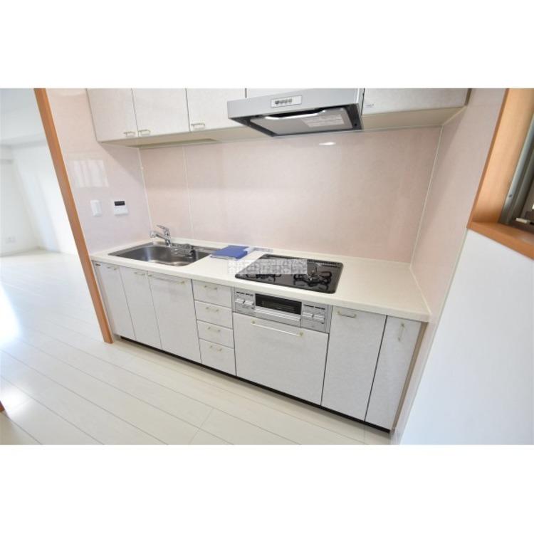 3口コンログリル付システムキッチン