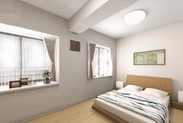 洋室2はゆとりの広さを確保しました。心地良い眠りと爽やかな目覚めを誘う主寝室として