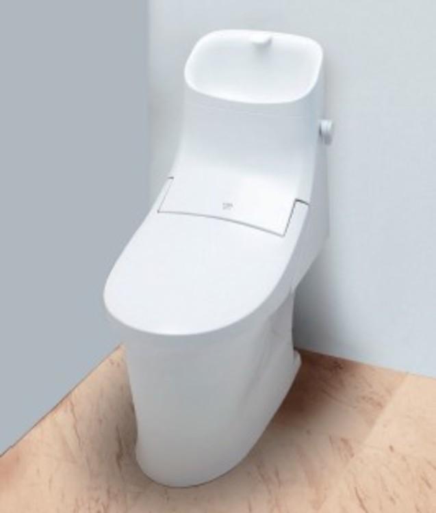 便器は新品の時の白さ輝きが100年つづく新素材「アクアセラミック」を採用しています
