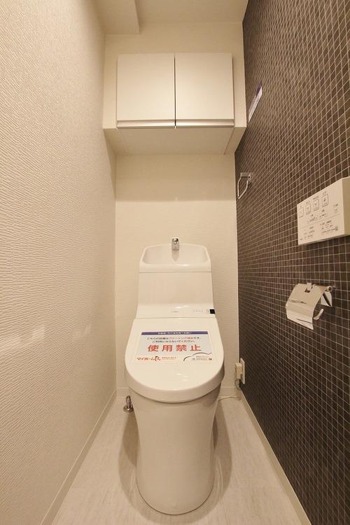 トイレは、洗浄や脱臭など機能性に優れたウォシュレット一体型です