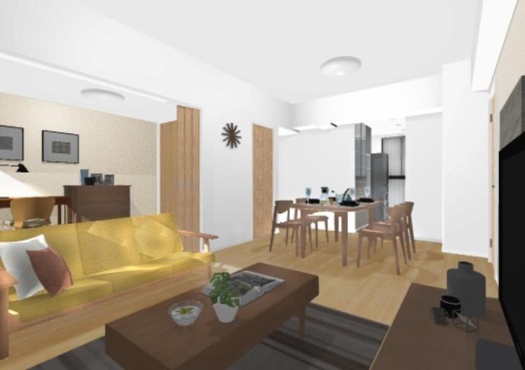 リビングに隣接する洋室3には引戸を採用。書斎や子ども部屋、ライフスタイルの変化に合わせて様々な使い方が可能です