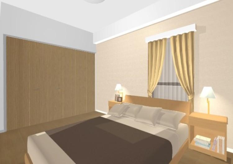 落ち着いた色合いのアクセントクロスは、さりげなくお部屋を上品に彩ります