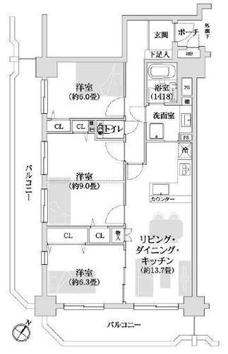 エステスクエア相模大野駅前 「相模大野」駅歩2分 の物件画像