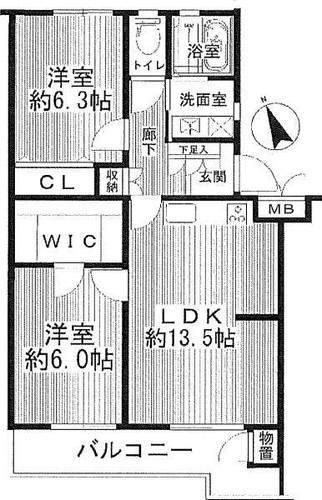 公田ハイツ6号棟の物件画像