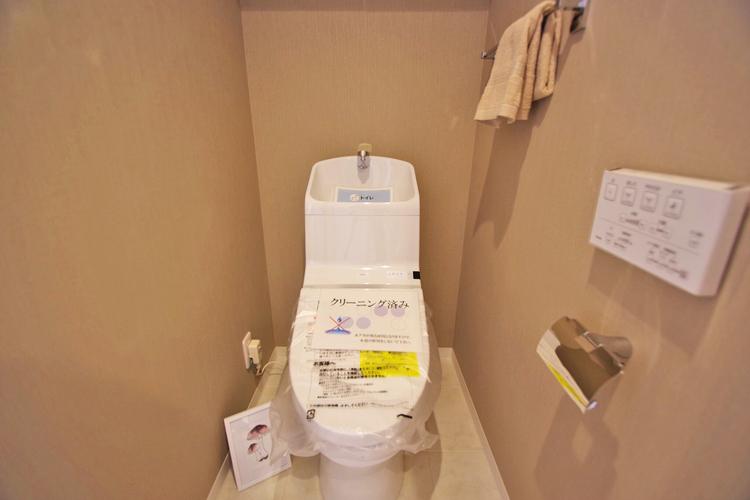 リフォームにより新設されたトイレは、清潔感があります