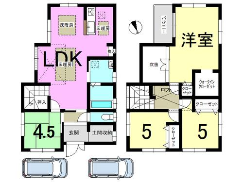 大津市 下阪本2丁目 一戸建て 3SLDKの物件画像