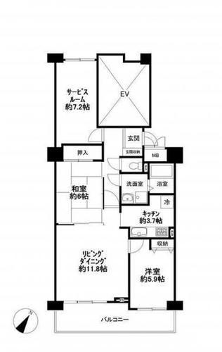 パストラルハイム佐倉志津壱番館 11階の画像