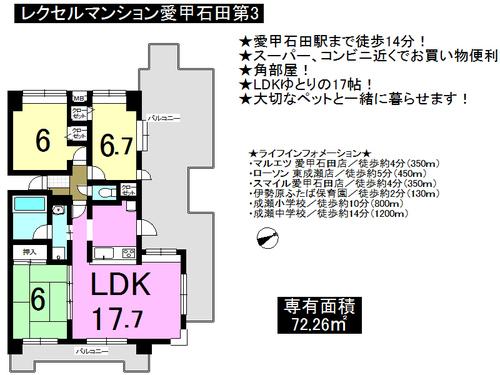 レクセルマンション愛甲石田第3の物件画像