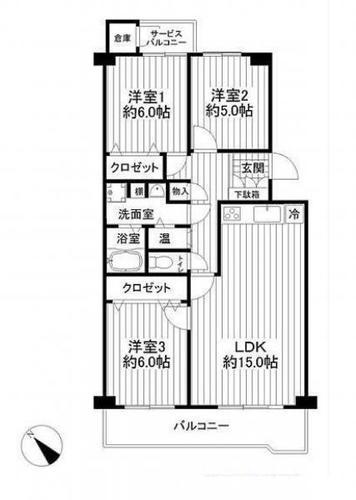 ハイホーム志津駅前 3階の物件画像