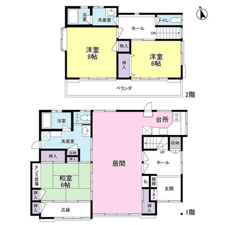 〇全居室6帖以上+豊富な収納で住空間広々快適!