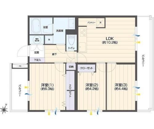 菊名スカイマンションB棟の物件画像