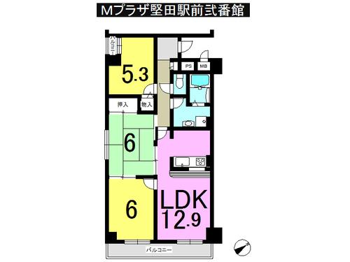 Mプラザ堅田駅前弐番館の間取り