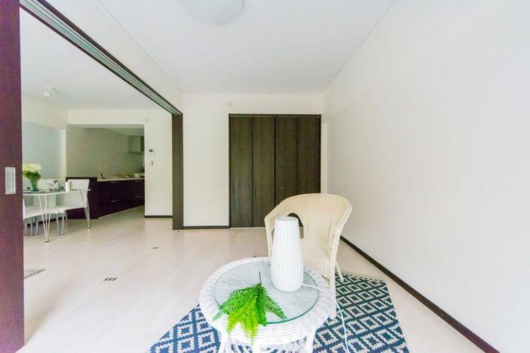 「洋室」引き戸で仕切られ、個室やリビングと一体化させるなど使い分けができます。