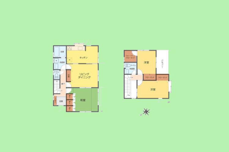4DK 土地面積215.00平米、建物面積99.36平米