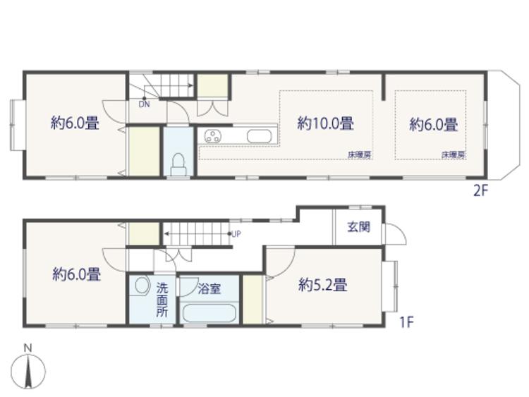 3LDK+S(納戸)、土地面積77.6m2、建物面積78.43m2