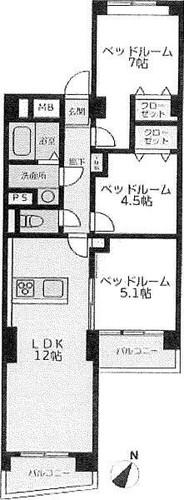南永田団地1−2号棟の物件画像