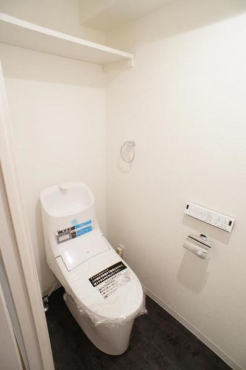 節水効果がありお手入れがしやすいタンク一体型トイレを採用!