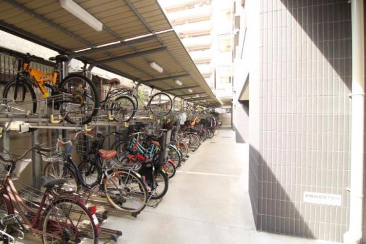 綺麗に整頓されている駐輪場