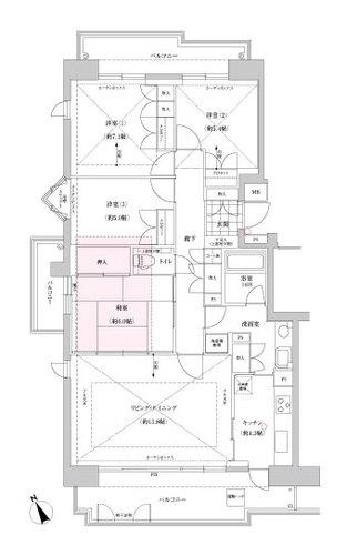 コモンヒルズ安針台山の手ⅠⅡⅢ番館(3-801)の画像