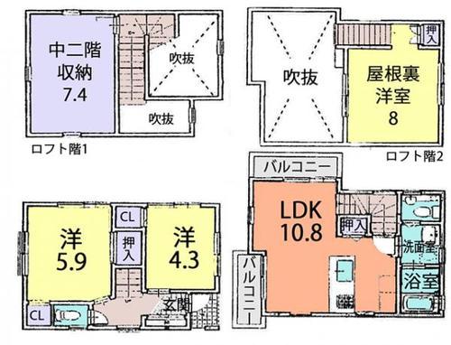 春日部市備後東7丁目 一戸建て住宅の画像