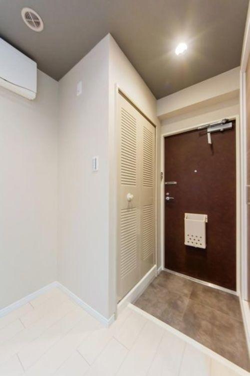 「玄関」清潔感のある玄関スペース