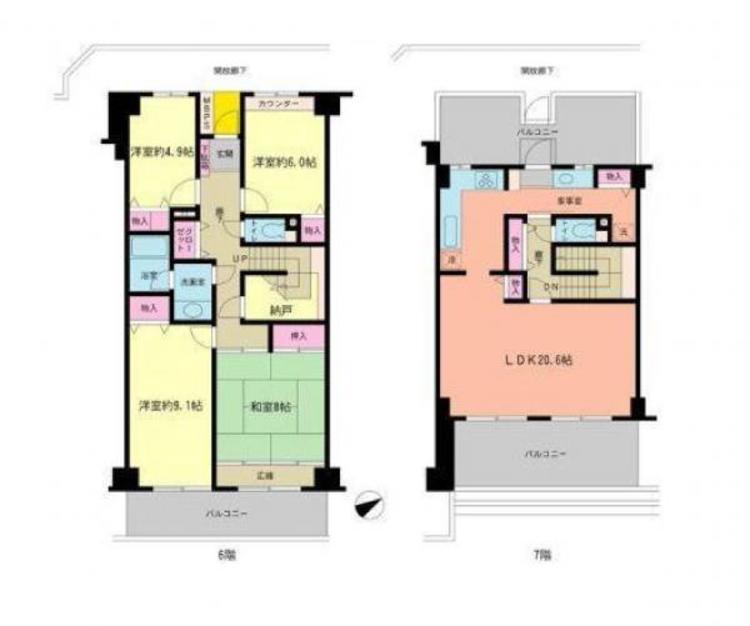 ●生活空間広々!戸建て感覚でお住まいになれるメゾネットタイプのお部屋です!