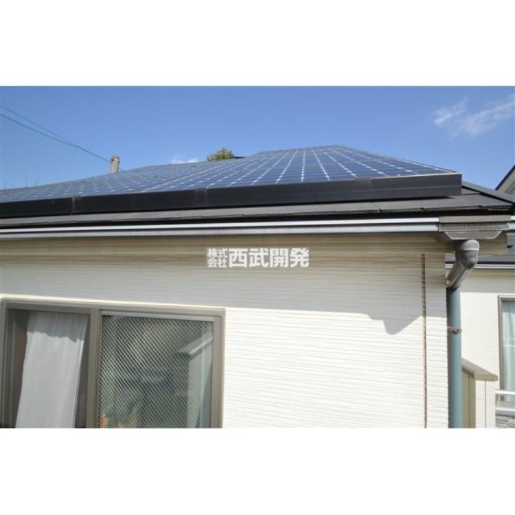 火を使わないオール電化の家。太陽光パネルで環境とお財布にやさしいです。