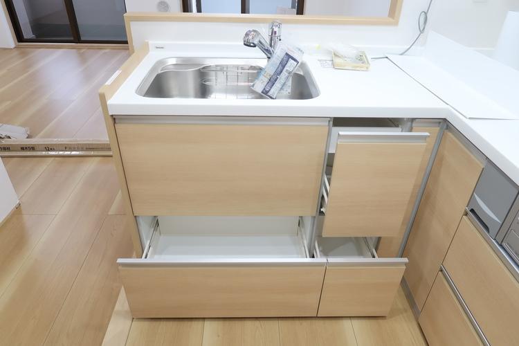 浄水器一体型水道。美味しいお水を手軽に利用できます。