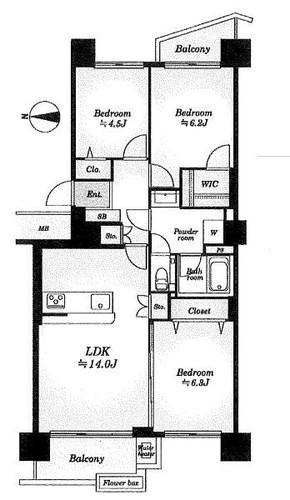 若葉台団地1−1号棟の物件画像