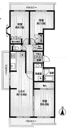 藤和ライブタウン中山6号棟の物件画像