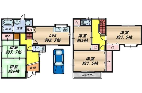 堺市西区山田1丁目 中古戸建の物件画像