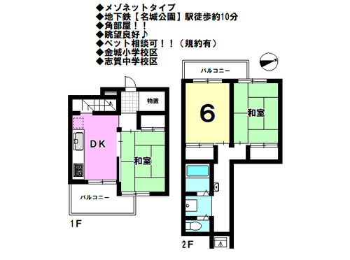 中富住宅 F棟の物件画像