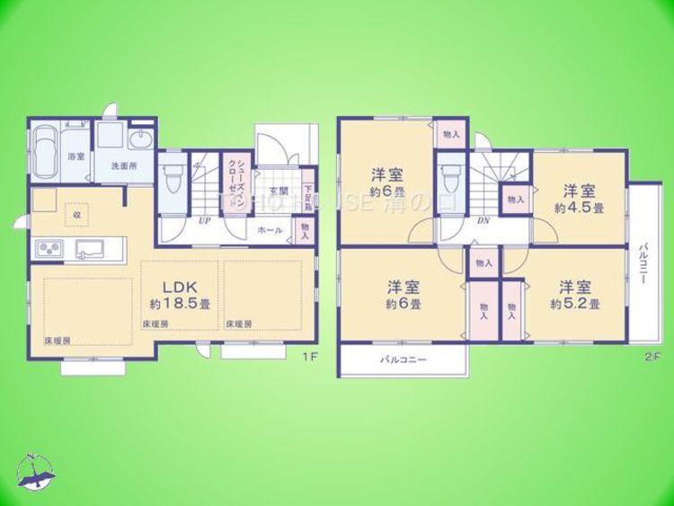 4LDK 土地面積100.11平米、建物面積96.87平米