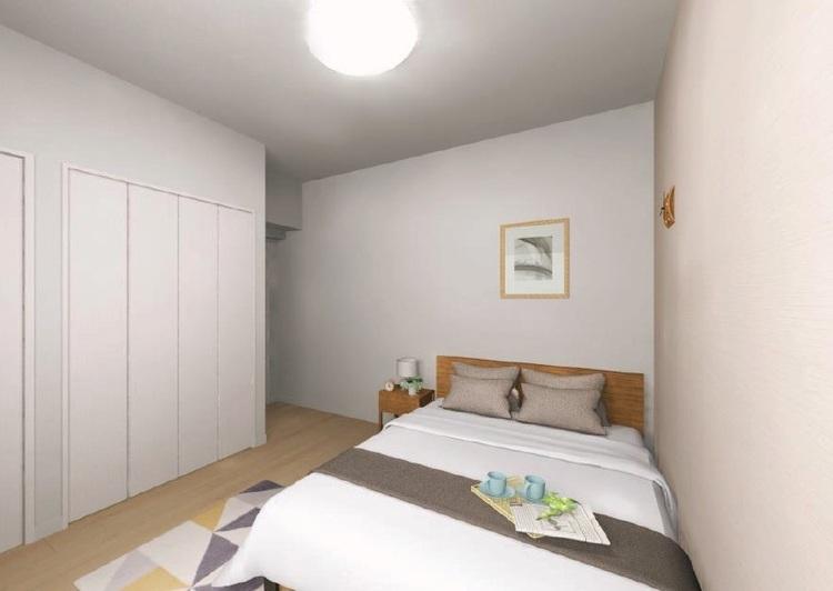 洋室1には豊富な収納を用意。室内を広く活用できます
