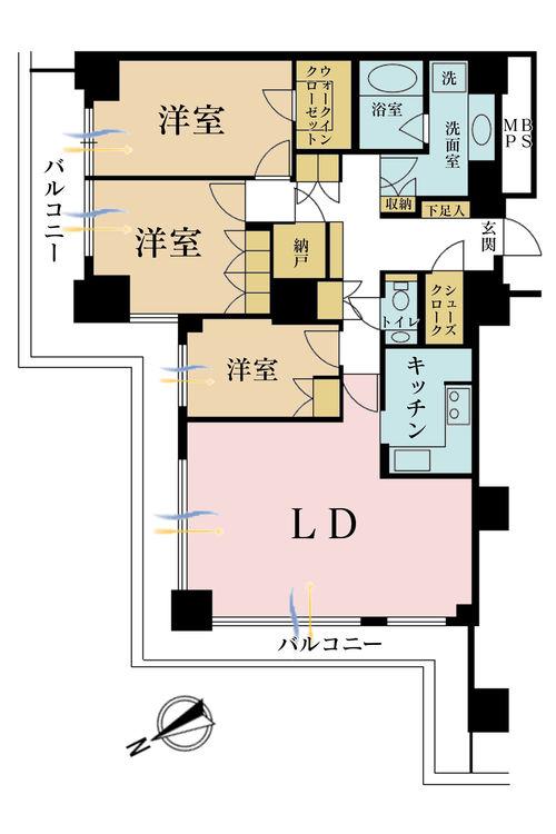 3LDK+S(納戸)、価格7280万円、専有面積111.37m2、バルコニー面積1m2 【外観】