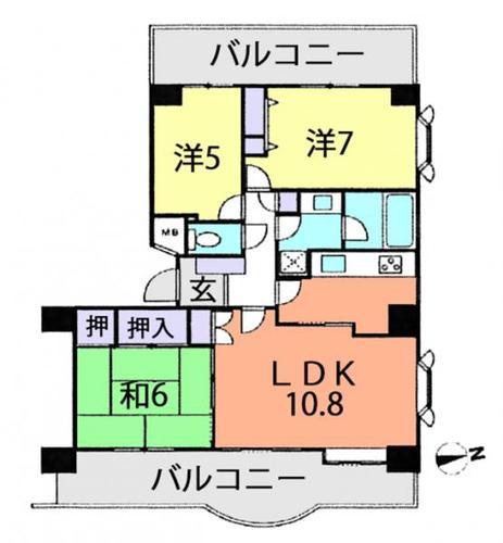 流山ニューシティ・ステージ21ヒルサイドコート壱番館の物件画像