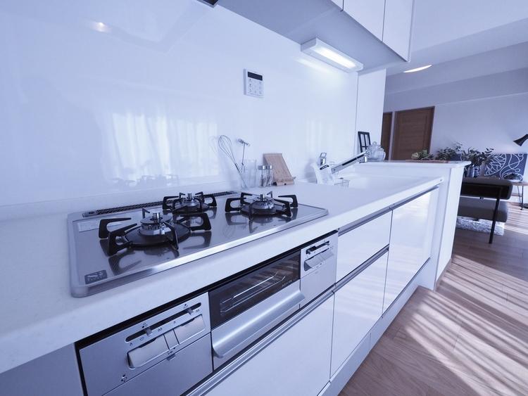 皆さんでお料理を愉しむスタイルよりも、お料理の上手な方が、独壇場でお料理の腕を披露するスタイルに向いているキッチンです。