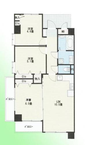 ライオンズマンション上尾原市第2 3階の画像