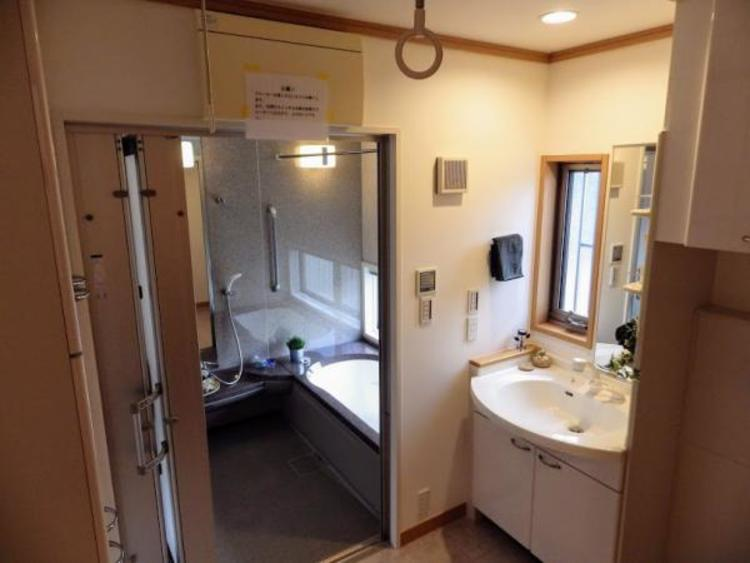 収納豊富な洗面スペース