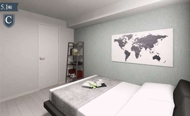2つの洋室には、ウォークインクローゼットを設置。室内を広くお使いいただけます