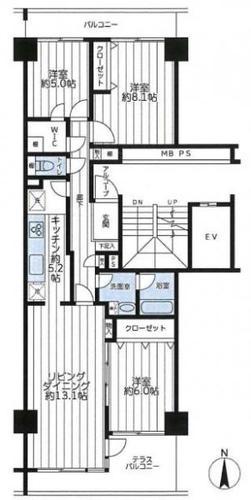 ニューシティ東戸塚クレール丘の街五番館の物件画像