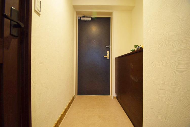 たっぷりと入る玄関収納