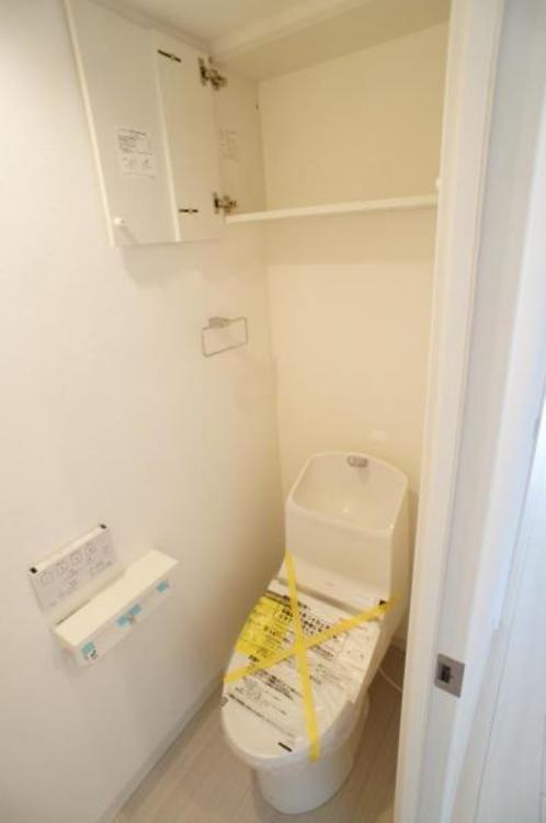 節水効果があり、お掃除もしやすいタンク一体型トイレを採用!