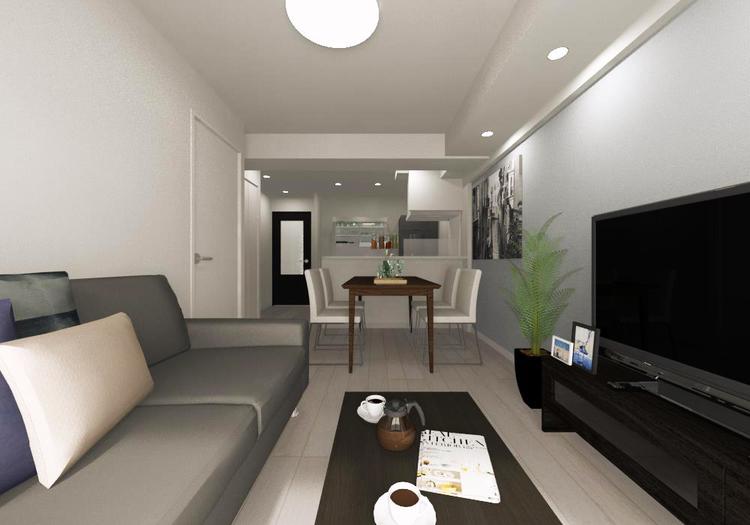使いやすい縦長空間なので、家具の配置がしやすく理想のレイアウトが実現できます