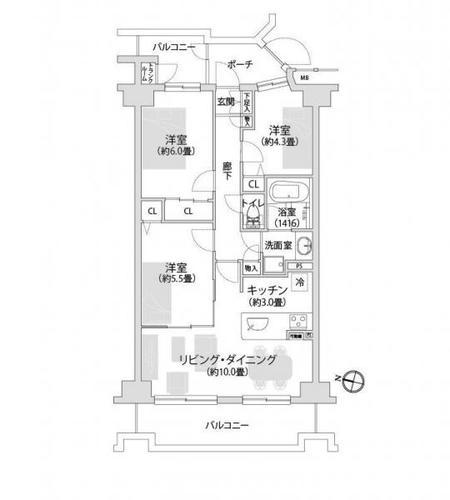 ヒューマンスクエア武蔵浦和 学区/大里小・白幡中の物件画像