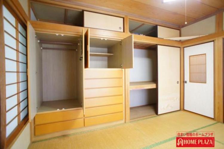 収納充実の和室です。