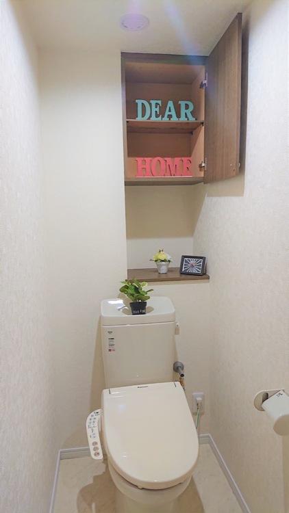 ウォシュレット付きトイレが2つあるので、家族が多くても安心♪