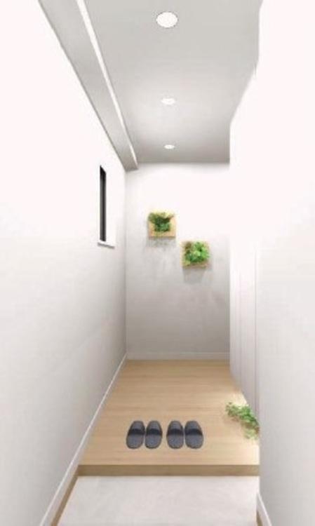 明るく清潔感のある玄関スペース