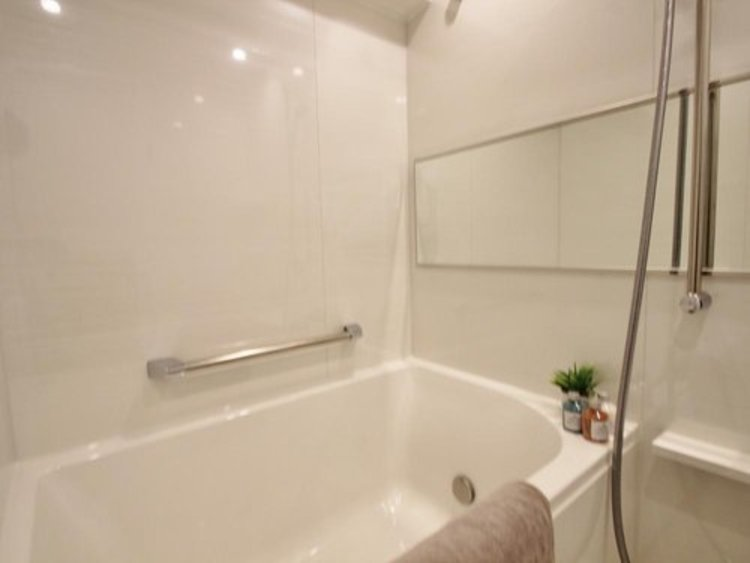 素敵なバスパネルと曲線デザインが美しい浴槽が高級感を感じさせる浴室に身も心も癒されます。